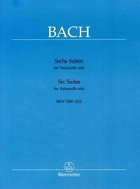 BACH SUITES (6) BWV1007-1012 Wenzinger CELLO SOLO