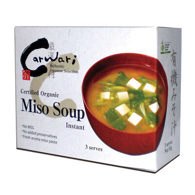 6 x Carwari Organic Miso Soup Instant 51g 3 Serves ( total 18 serves )