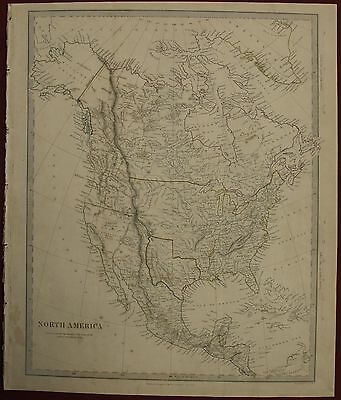 Indipendent Texas North America Continent 1843 S.d.u.k. Antique Engraved Map