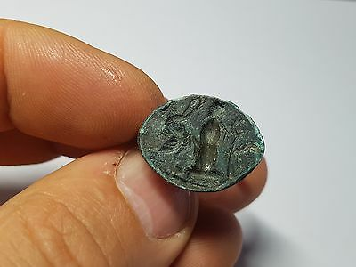 Greek Ring with Standing Figure  4th-1st century BC