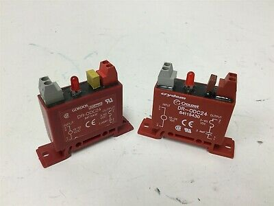 Lot of 2 Gordos Crouzet DR-ODC24 Solid State Relays, In: 18-32VDC, Out: 3-60VDC