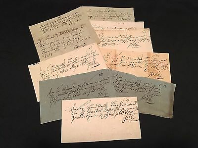 LOT OF ANTIQUE NOTES 1700s