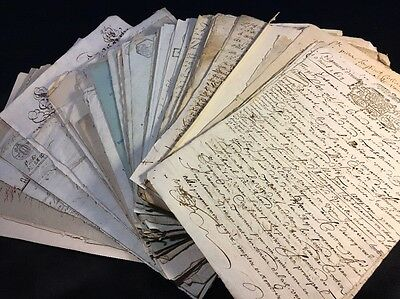Lot Of 100 Antique Manuscripts