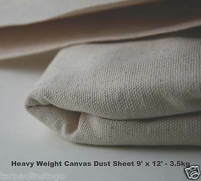 Cotton Canvas Heavy Duty Professional Quality 3.5KG Dust Sheet