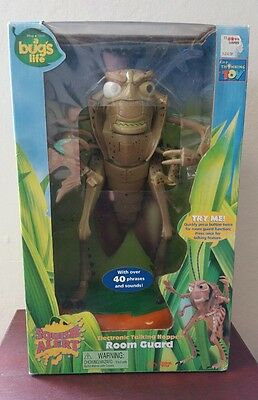 Disney Pixar A Bug's Life Hopper Electronic Talking Room Guard In Box Think Way