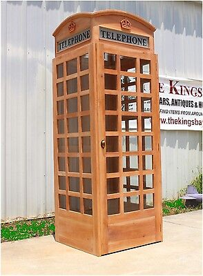 English British Phone Telephone Booth UNFINISHED Wood Replica Old UK