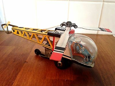 """1960's JAPANESE TINPLATE TOY """"DAIYA"""" HELICOPTER - GOOD WORKING CONDITION"""