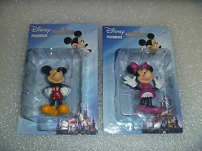 Disney Set of Mickey and Minnie Mouse Figurines~*~New & MIP