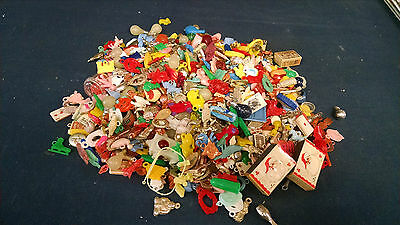 Huge Vintage Mixed Lot Toy Prizes Charms Compass Bakelite Celluloid 50's & 60's