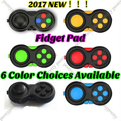 NEW Fidget Pad Cube Hand Shank Handle Autism ADHD Relieves Stress Focus Desk Toy