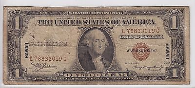 United States 1935-A $1 Silver Certificate Hawaii Emergency Issue L78833019C