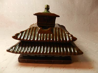 VINTAGE JAPANESE Temple SMOKING SET WITH ASHTRAY LIGHTER AND CIGARETTE STORAGE