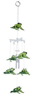 Green Frogs Chimes  Acrylic16 inches  - RAI 79317