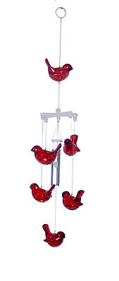 Red Cardinal Bird Chimes  Acrylic16 inches  - RAI 79318