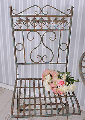 Garden Seat Metal Chair Country House Style Iron Chair Decoration Chair Garden