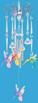 Hummingbird Colourful Bird Chimes Acryilc 19 inches  - RAI 14592