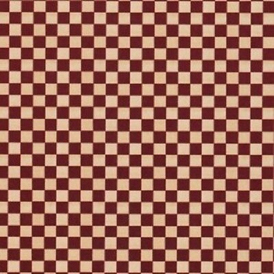 Creative Memories 10x12 COTTAGE GROVE Paper - RED CHECK - SINGLE SHEET