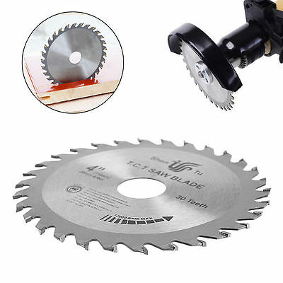 30T 4 inch Circular Sawing Blade Wood Cutting Round Discs Sawing Cutter Tools