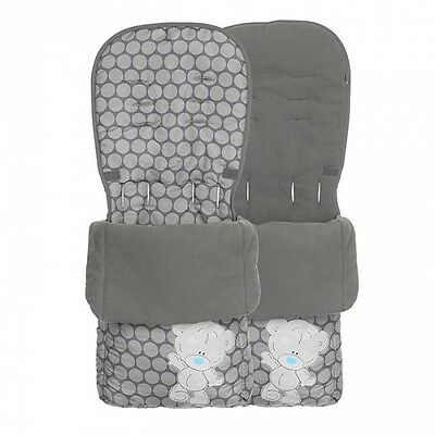 O'Baby Tiny Tatty Teddy Footmuff Cosytoes Atlas Buggy Universal GREY