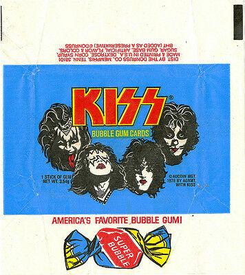 KISS vintage WAX PACK WRAPPER Card set of 2 dONRUSS 1978 EMPTY