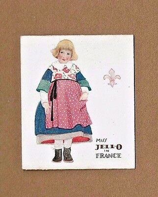 1920's Miss JELL-O Visits FRANCE Metamorphic Advertising Card ROSE O'NEILL