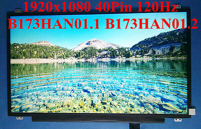 17.3inch 1920x1080 120Hz LCD B173HAN01.1 B173HAN01.2 40Pin Connector Matte