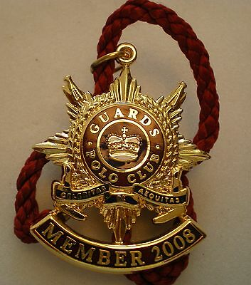 GUARDS POLO CLUB PLAYER 2008 ENAMEL Badge with Cord