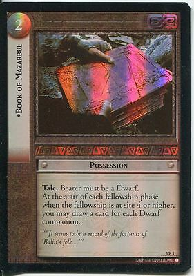 Lord Of The Rings CCG Foil Card RotEL 3.R1 Book Of Mazarbul