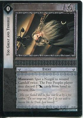 Lord Of The Rings CCG Card RotEL 3.R85 Too Great And Terrible