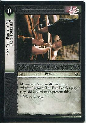 Lord Of The Rings CCG Card RotEL 3.R50 Can You Protect Me From Yourself