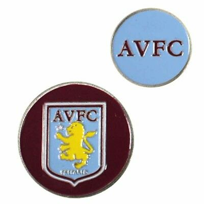 Aston Villa Football Club Crest Double Sided Golf Ball Marker with Free UK P&P