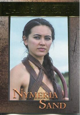 Game Of Thrones Season 5 Gold Parallel Base Card #90 Nymeria Sand