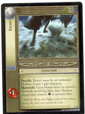 Lord Of The Rings CCG Card TTT 4.R300 Escape