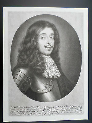 Abraham Blooteling  1634-90 Rare Early Mezzotint Portrait Of Earl Of Derby C1680