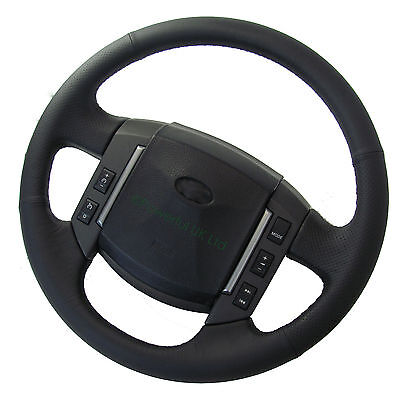 Black napa perforated leather steering wheel upgrade for Range Sport 2005-09 NEW