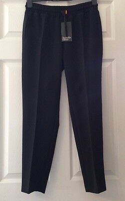 Isabella Oliver Halley Maternity Crop Trousers Caviar Black Size 2 (10) RRP £109