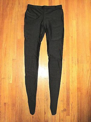 Woman's Plus Size Shiny Black Footed Spandex Tights Size XXL-Tall New