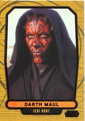 Star Wars Galactic Files 2 Red Parallel Base Card #379 Darth Maul