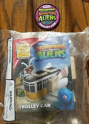 Lowes build and grow kit Monsters Vs. Aliens Trolley Car w/ patch wooden toy diy