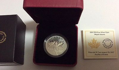 Canadian Maple Leaves 1/2 oz. Pure Silver Coin (2017): Canada's 150th Birthday