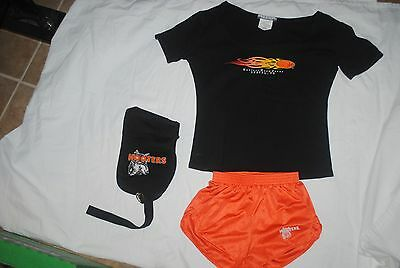 Hooters Girl outfit, shorts, shirt, money pouch, all excellent