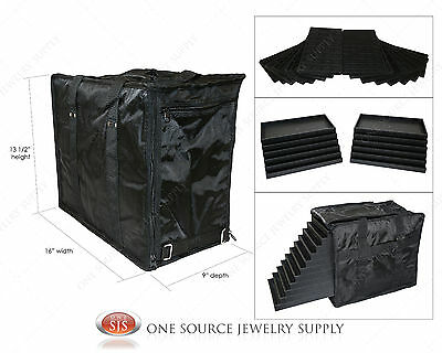 Carrying Case Medium Jewelry Salesman Black Travel Case & Jewelry Trays & Liners