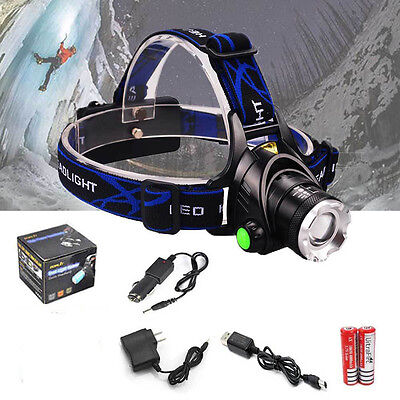 12000LM LED Headlamp Rechargeable Headlight CREE XM-L T6 Head Torch headlight HY