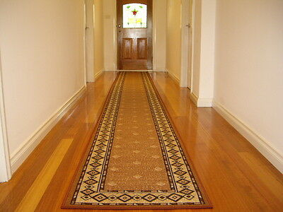 Hallway Runner Hall Runner Rug Modern Brown 4 Metres Long FREE DELIVERY 99809