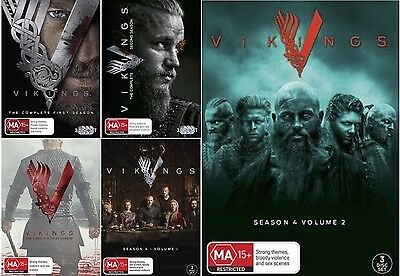 VIKINGS : COMPLETE Seasons 1 2 3 4 Part 1 - 2  : NEW DVD