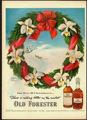 1951 Vintage ad for OLD FORESTER Kentucky Straight Bourbon Whisky (012813)