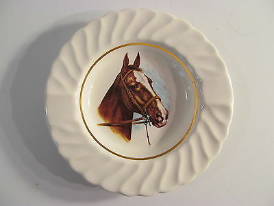 Vintage Conrad Crafters Horse Head Picture Plate from Wheeling Wv