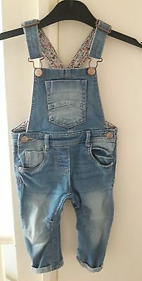 baby girl dungarees 9-12 months