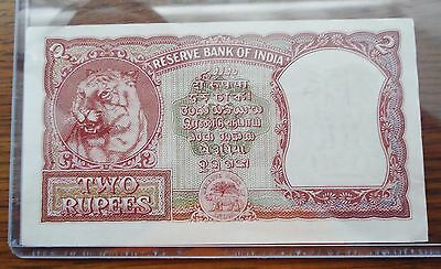 India Two/2 Rupees 1948-1970 Note/paper Money. Condition: Very Good