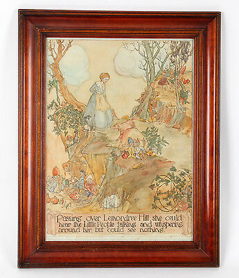 Leslie F Everett Arts and Crafts 1914 Watercolour Illustration Rackham Style